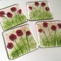 Poppy Art Coasters