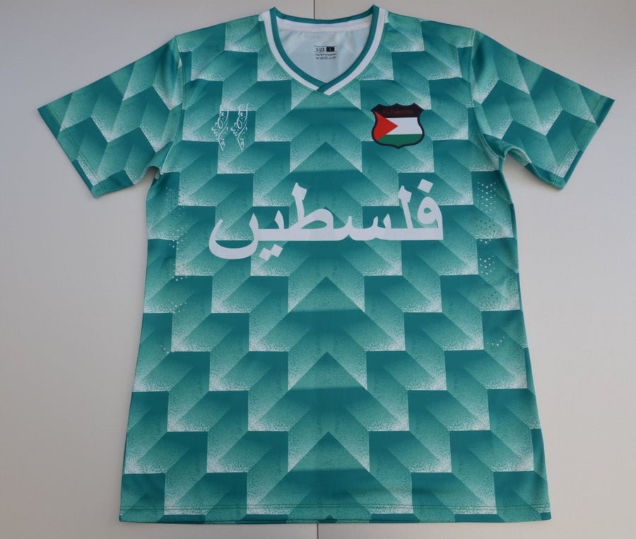 Image of Palestine Green Retro Football Shirt