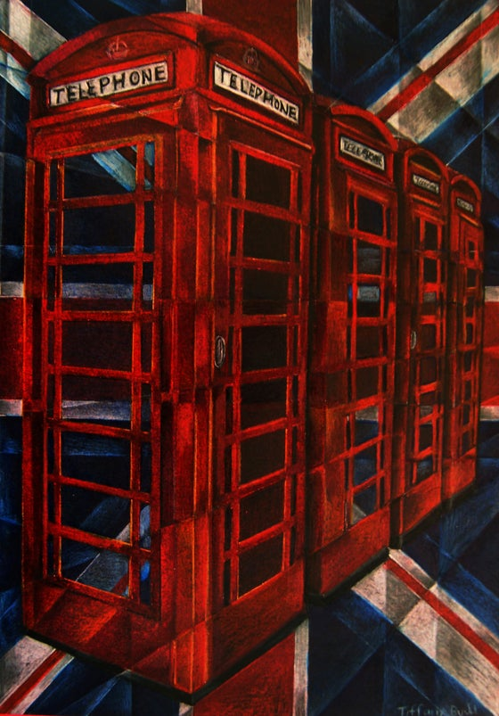 Image of Telephone Boxes- Large Canvas print