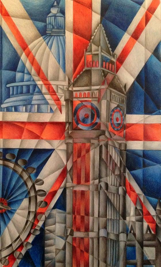 Image of London- England. Large Canvas print