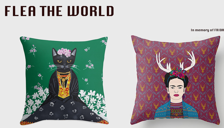 Image of In Memory of Frida - throw pillow cases