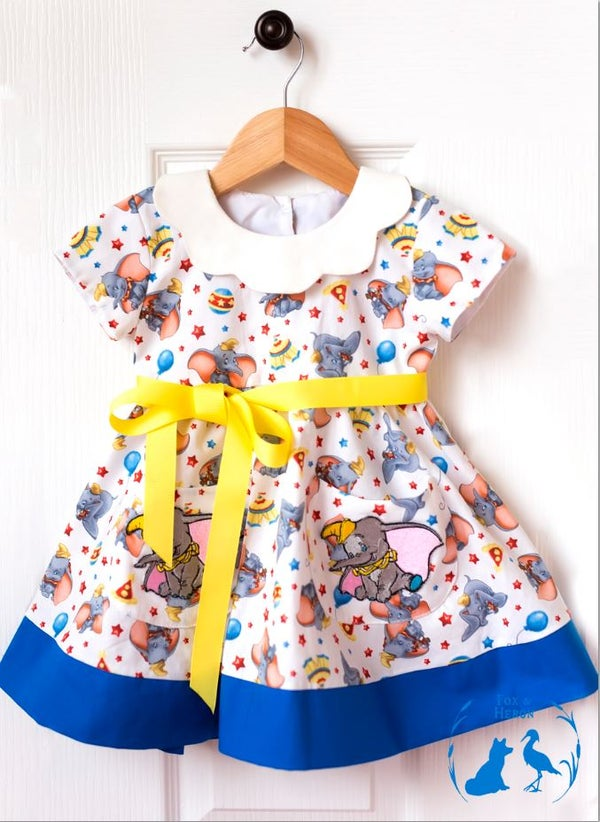 Image of Dumbo dress with pockets and patches
