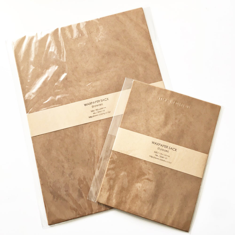 Image of Classiky Flat Wax Paper Bag