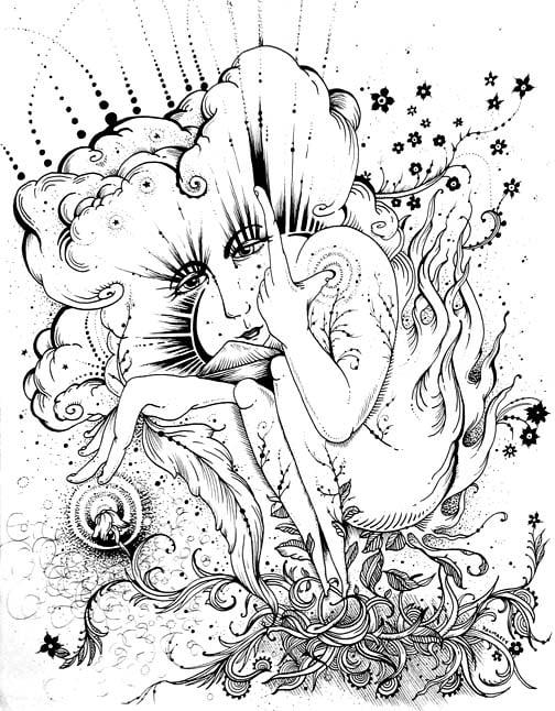 "Image of ""As above, So below"" Original Drawing"