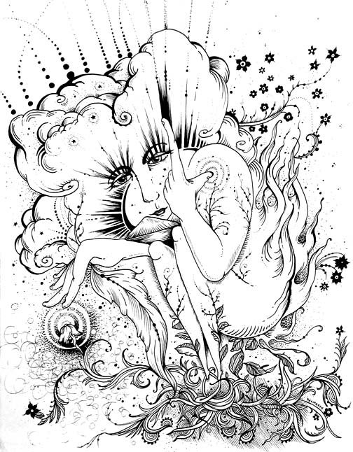 "Image of ""As above, So below"" Original Drawing"