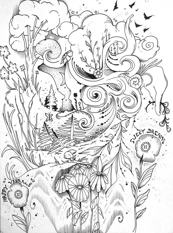 "Image of ""Sweet Dreams"" Original Drawing"