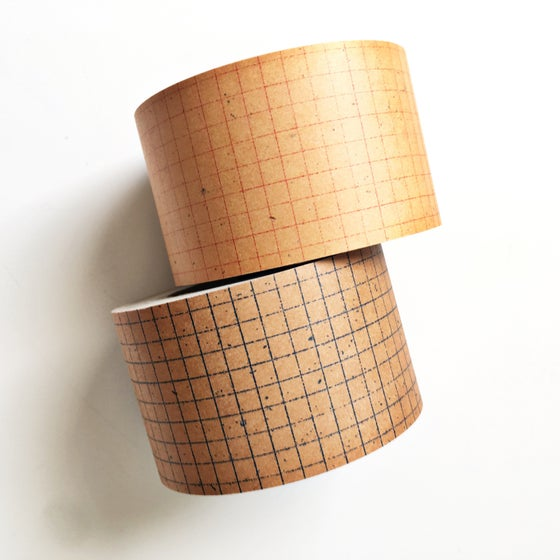 Image of Classiky Grid Kraft Paper Tape 45mm