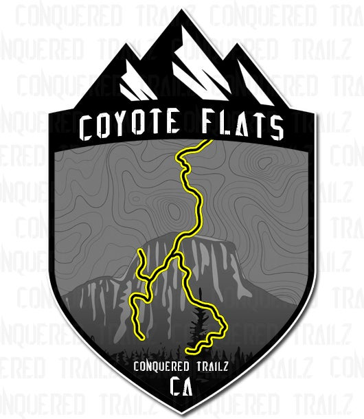 """Image of """"Coyote Flats"""" Trail Badge"""