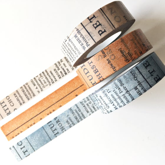 Image of Classiky Old Book Washi Tape 15mm