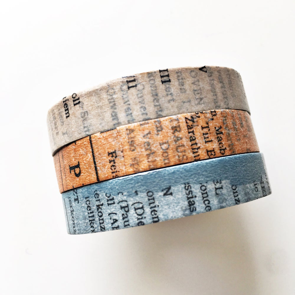 Image of Classiky Old Book Washi Tape 10mm
