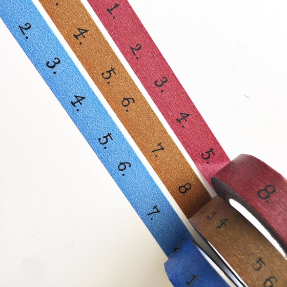 Image of Classiky Number Washi Tape