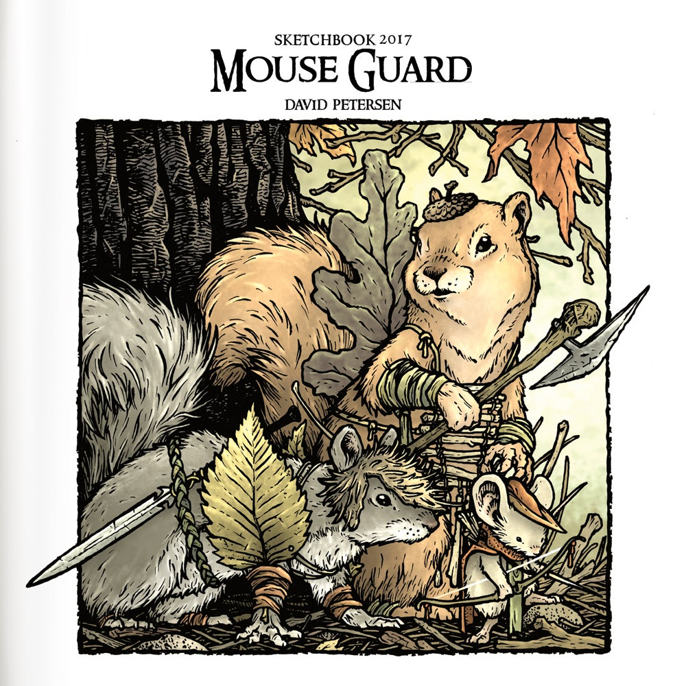 Image of 2017 Mouse Guard Sketchbook