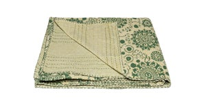 Image of 676685039507 KANTHA COTTON THROW 50' X 70'