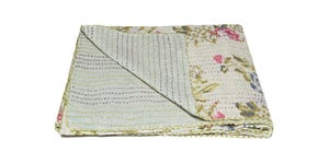 Image of 676685039552 KANTHA COTTON THROW 50' X 70'