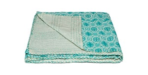 Image of 676685039576 KANTHA COTTON THROW 50' X 70'
