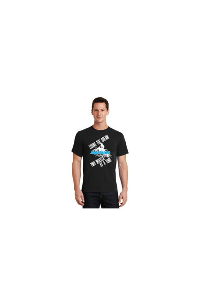 Image of Living the Dream Two Wheels at a Time - Shirt, Black