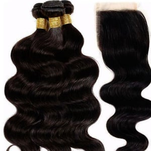 Image of 3 Bundles+ Closure Snap Chat Bundle Deal