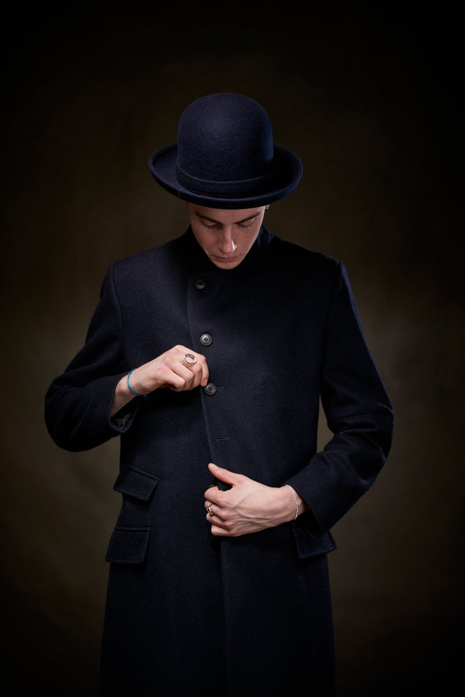 Image of East End Wool Coat - Navy £395.00
