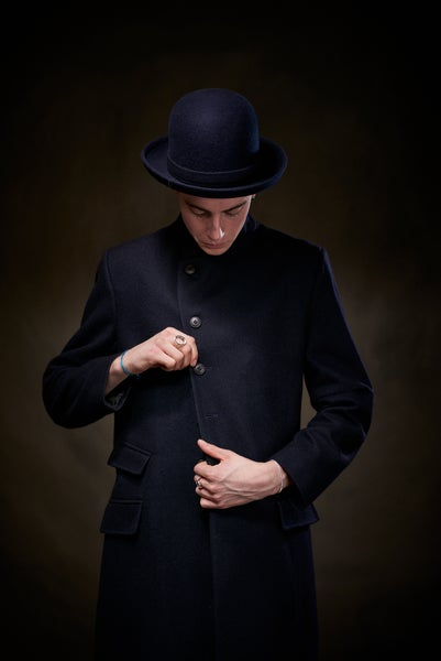 Image of East End Wool Coat - Navy £395.00