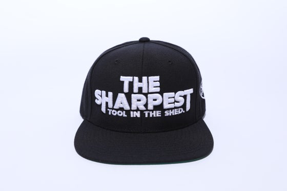 Image of THE SHARPEST TOOL IN THE SHED Black Snapback