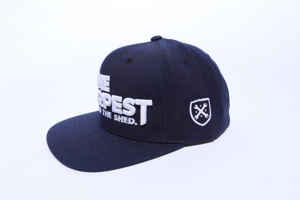 Image of THE SHARPEST TOOL IN THE SHED Navy Snapback