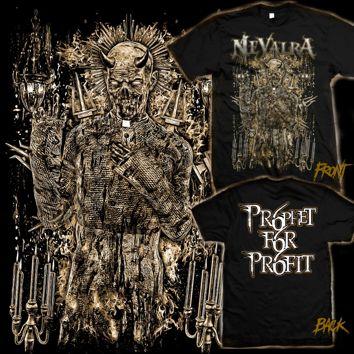 "Image of NEVALRA - ""Prophet For Profit"" SHIRT"