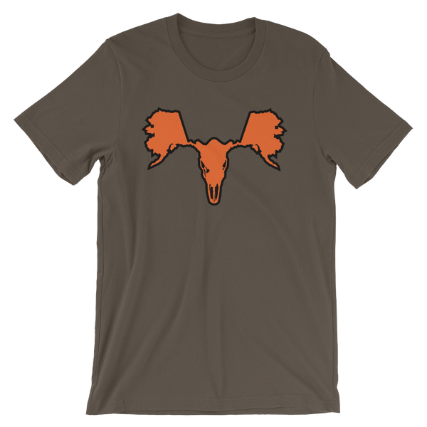 Image of Men's Alaskull Moose - Brown/Orange