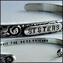 "Image of ""Sisters ~ Make the Best Friends"" Sterling Bracelet"