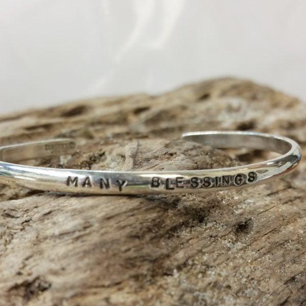 """Image of """"Many Blessings"""" Sterling Bracelet"""