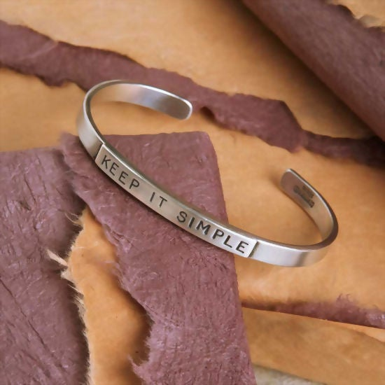 "Image of ""Keep it Simple"" Sterling Bracelet"