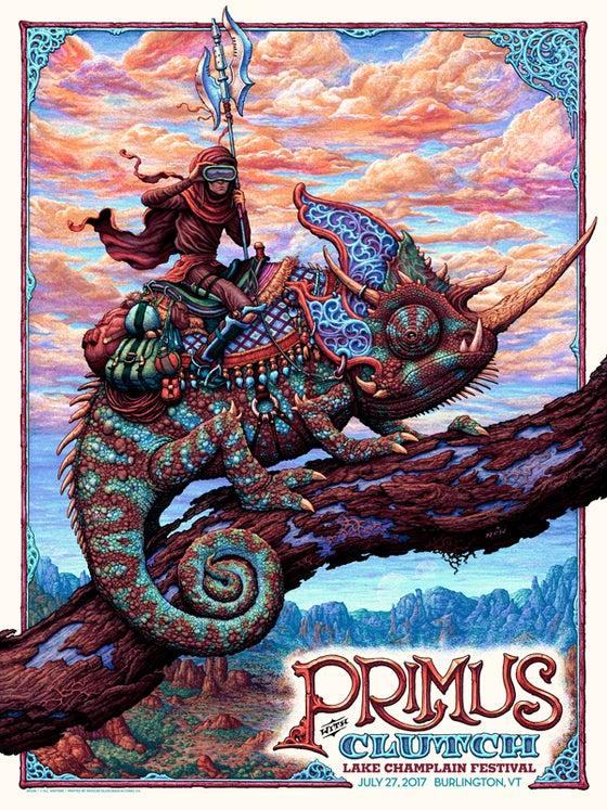 Image of PRIMUS Gig Poster: July 27, 2017 Lake Champlain, VT