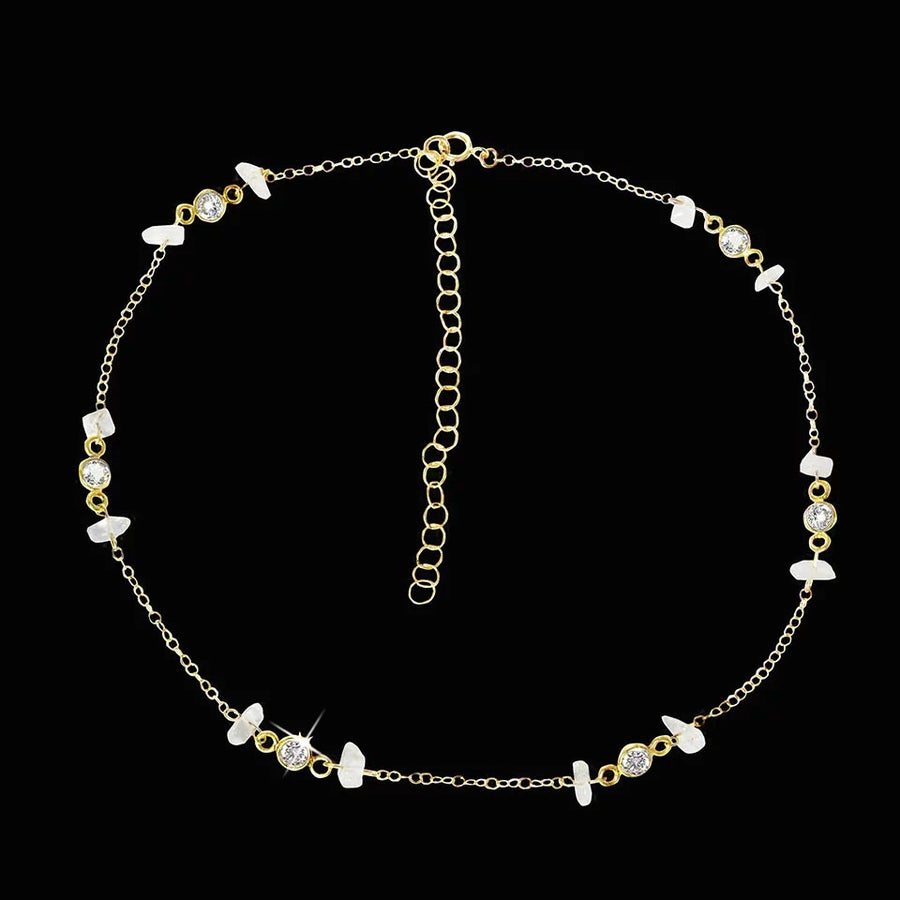 Image of Rainbow Moonstone & Topaz Choker