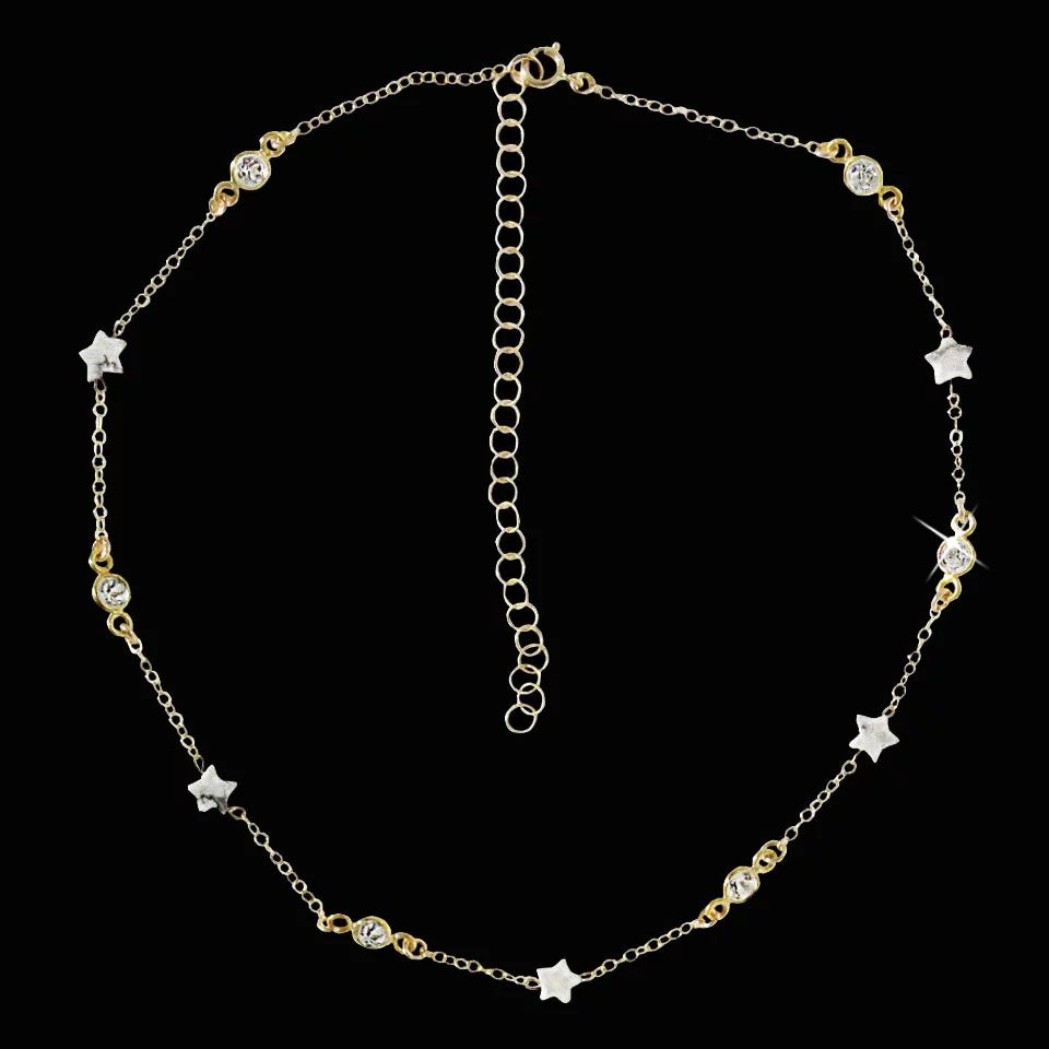 Image of Star Child Howlite & Topaz Choker