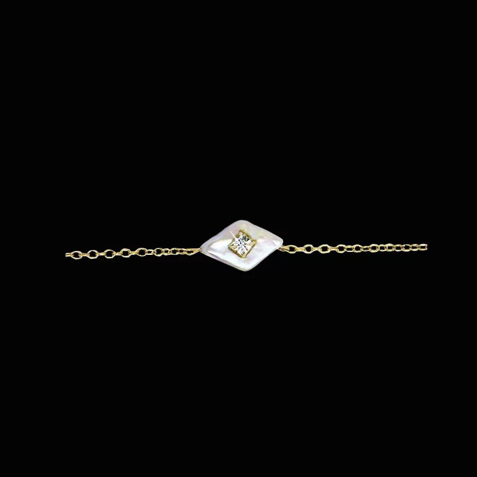 Image of Mother of Pearl Marquise Choker