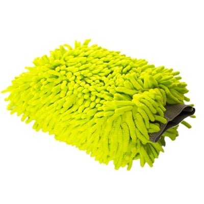 Image of Microfiber Green Chenille Wash Mitt