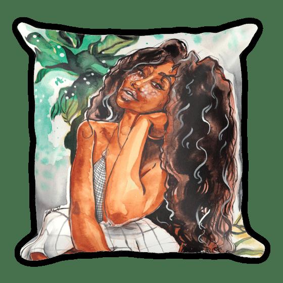 "Image of SZA Ctrl Inspired Throw Pillow W/ Insert 18x18"""