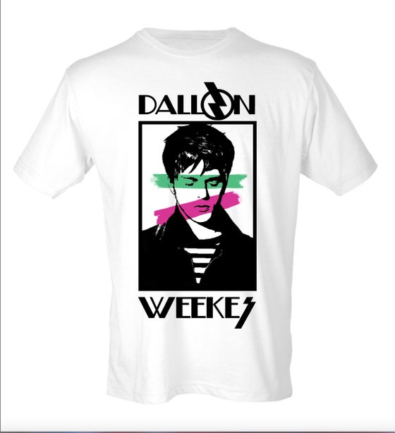 Image of 80's RETRO DALLON TEE Green/Pink