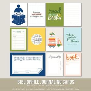Image of Bibliophile Journaling Cards (Digital)