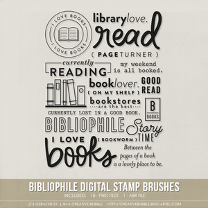 Image of Bibliophile Stamp Brushes (Digital)
