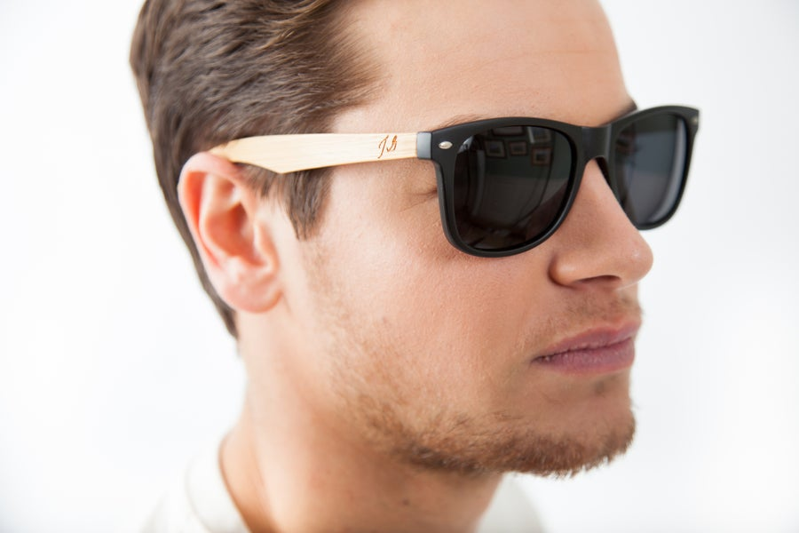 Image of Black Bamboo Wayfarers