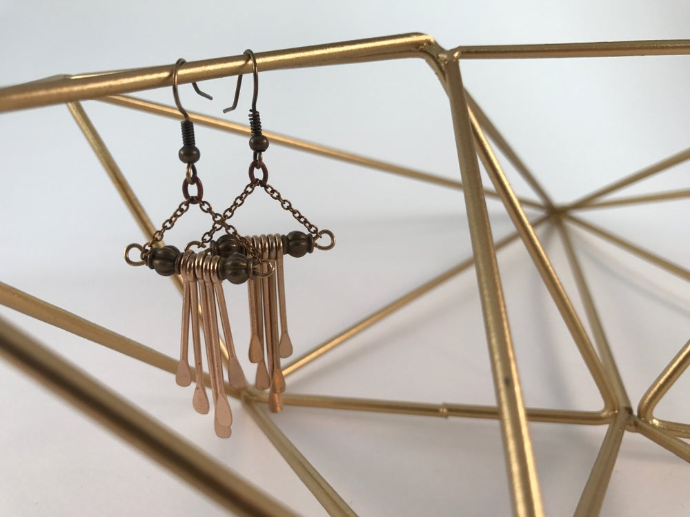 Image of Gold Paddle Earrings