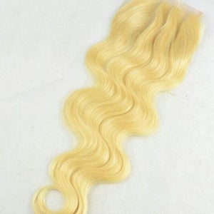 Image of 613 Blonde 3 Part Body Wave Closure