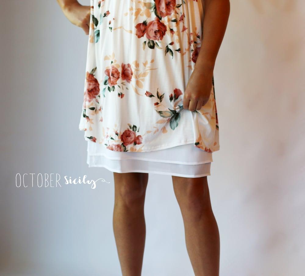 Image of FREESHIP Chiffon Ruffle Half Slip *Style C* Dress Extender