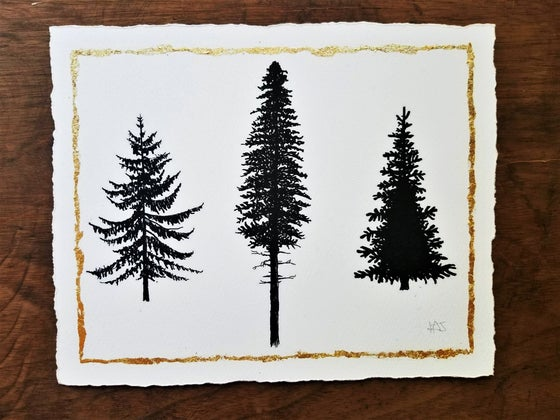 Image of Three Wee Trees - signed print