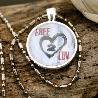 Image of FREE2LUV Pendant Necklace