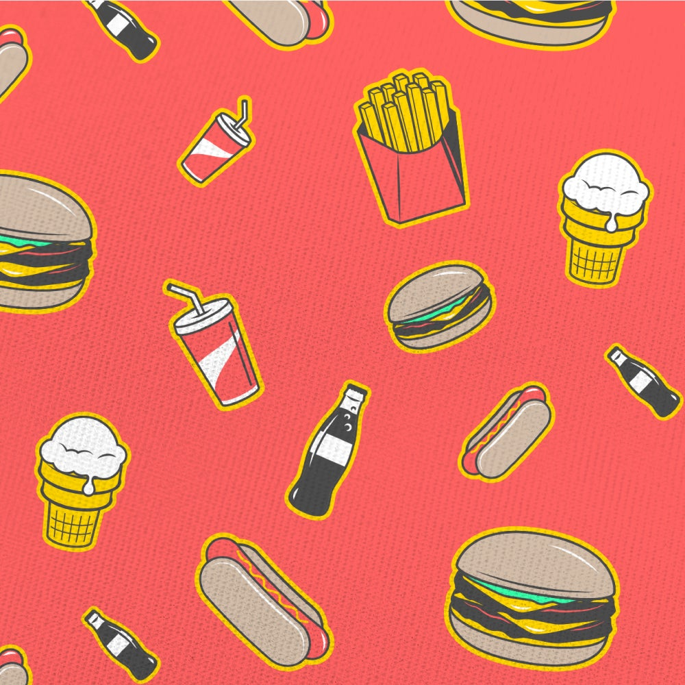 Image of Fast Food | All-over print