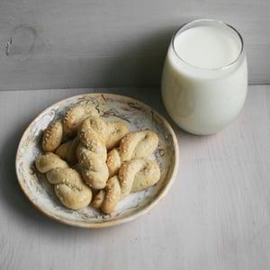 Image of Greek Cookies (Koulourakia) with Sesame Seeds (TWO DOZEN)