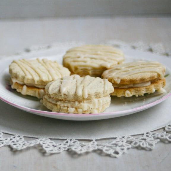 Image of GF Shortbread Sandwich Cookies with Creamy Vanilla Filling (ONE DOZEN)
