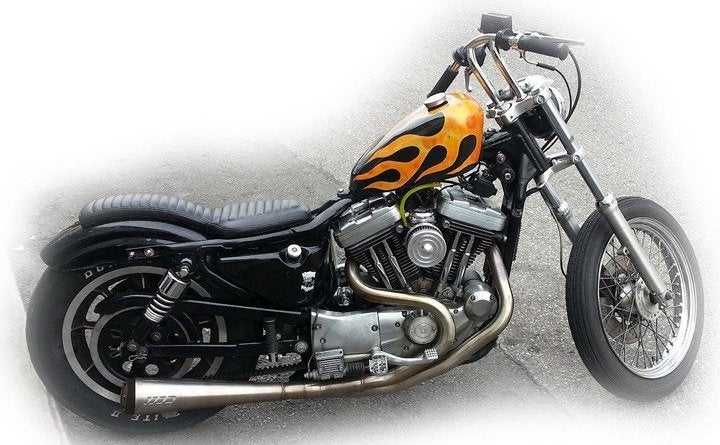 "Foam Padding Roll >> '82-'03 Sportster ""2 UP"" Cobra King Seats / Old Gold Garage Co."