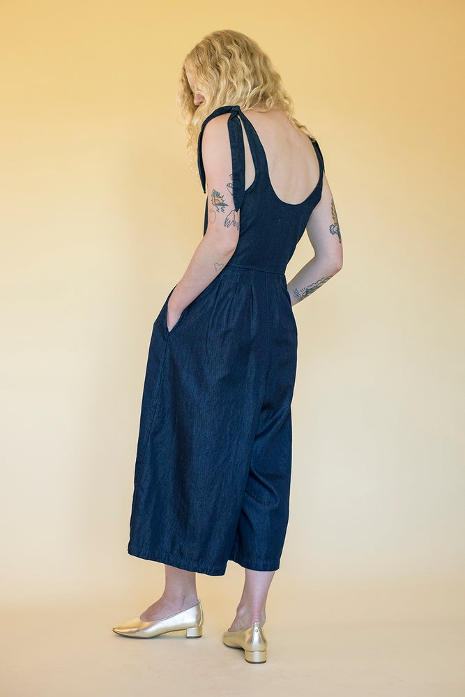 Image of NOVA JUMPSUIT - NAVY TENCEL